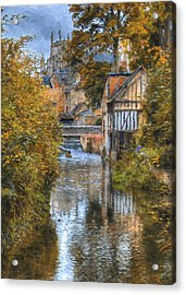 L'eure A Louviers Acrylic Print by Jean-Pierre Ducondi