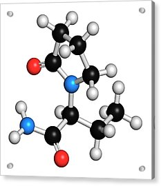 Levetiracetam Epilepsy Drug Molecule Acrylic Print by Molekuul