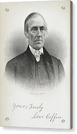 Levi Coffin Acrylic Print by British Library