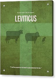 Leviticus Books Of The Bible Series Old Testament Minimal Poster Art Number 3 Acrylic Print