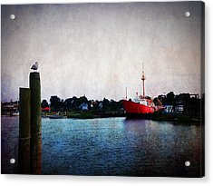 Lewes - Overfalls Lightship 2 Acrylic Print