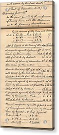Lewis And Clark Expedition Diary Acrylic Print by American Philosophical Society