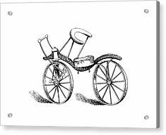 Lewis Gompertz's Bicycle Acrylic Print
