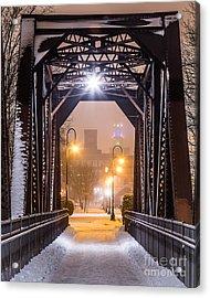 Lewiston From The Walking Bridge Acrylic Print by Benjamin Williamson