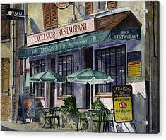 L'excelsior Cafe Acrylic Print by Terri  Meyer