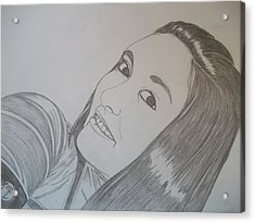 Acrylic Print featuring the drawing Lexi by Justin Moore