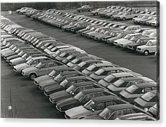 Leyland Cars Stockpiled As Sales Slump Acrylic Print by Retro Images Archive