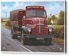 Leyland Comet 1948 Acrylic Print by Mike  Jeffries