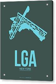 Lga New York Airport 3 Acrylic Print by Naxart Studio