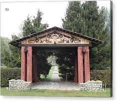 Lheit-li Nation Burial Grounds Entrance Acrylic Print