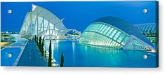 Lhemisferic Planetarium And El Palau De Acrylic Print by Panoramic Images