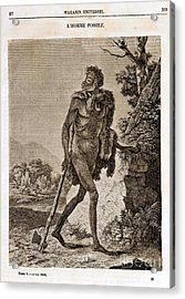 Lhomme Fossile, Cave Man, 1838 Acrylic Print