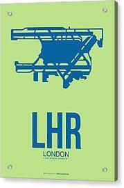 Lhr London Airport Poster 2 Acrylic Print