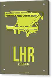 Lhr London Airport Poster 3 Acrylic Print by Naxart Studio
