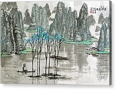 Acrylic Print featuring the photograph Li River In Spring by Yufeng Wang