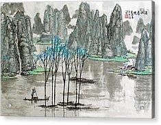 Li River In Spring Acrylic Print