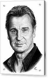 Liam Neeson Acrylic Print by Andrew Read