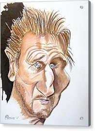Liam Neeson Acrylic Print by Chris Benice