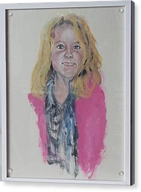 Libby Acrylic Print by Peter Edward Green