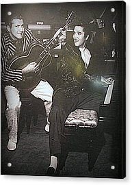 Liberace And Elvis Acrylic Print