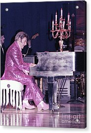 Liberace Piano Candelabra 1970 - We Will Be Seeing You Lee Liberace Acrylic Print by Wayne Nielsen