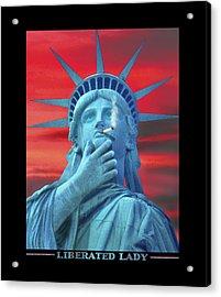 Liberated Lady Acrylic Print by Mike McGlothlen
