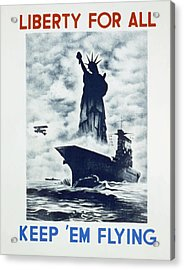 Acrylic Print featuring the photograph Liberty For All by american Classic Art