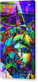 Liberty Head Abstract 20130618 Long Acrylic Print by Wingsdomain Art and Photography