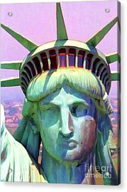 Liberty Head Painterly 20130618 Acrylic Print by Wingsdomain Art and Photography