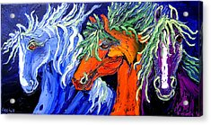 Liberty Horse Acrylic Print by Isabelle Gervais