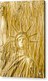 Acrylic Print featuring the photograph Liberty Is Golden by Dyle   Warren