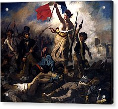 Liberty Leading The People During The French Revolution Acrylic Print by War Is Hell Store