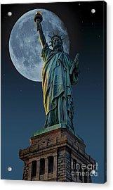 Liberty Moon Acrylic Print by Steve Purnell