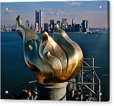 Liberty's Flame Acrylic Print by Benjamin Yeager