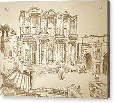 Library At Ephesus II Acrylic Print