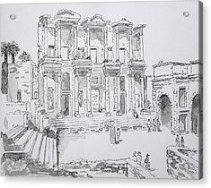 Library At Ephesus Acrylic Print