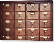 Acrylic Print featuring the photograph Library Case by Heather Green