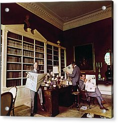 Library In Home Of Lord Iliffe Acrylic Print