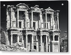 Acrylic Print featuring the photograph Library Of Celsus Ruins At Ephesus by Brad Brizek