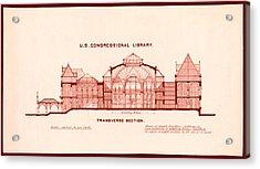 Library Of Congress Design 1877 Acrylic Print