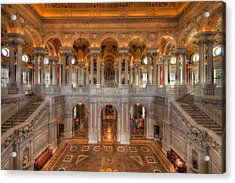 Library Of Congress Acrylic Print by Steve Gadomski