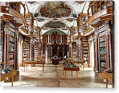 Library Of St Gall's Abbey Acrylic Print by Michael Szoenyi/science Photo Library
