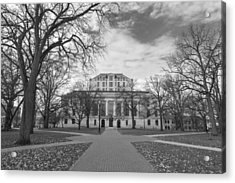 Library Ohio State University Black And White  Acrylic Print