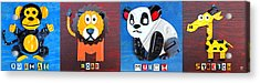 License Plate Art Jungle Animals Series 1 Acrylic Print by Design Turnpike