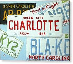 License Plates Acrylic Print