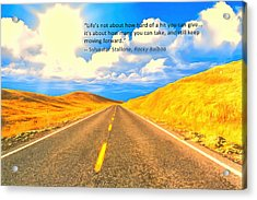 Life Acrylic Print by Anthony Caruso