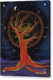 Life Blood Tree By Jrr Acrylic Print by First Star Art