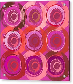 Acrylic Print featuring the digital art Life Circles by Lisa Noneman