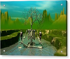 Acrylic Print featuring the digital art Life Death And The River Of Time by John Alexander