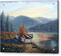 Acrylic Print featuring the painting Life Goes On by Fran Brooks